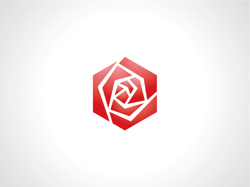 Hexagonal Rose Logo Template By Heavtryq Dribbble Dribbble