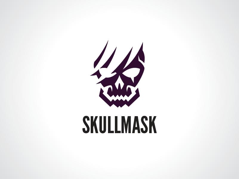 broken skull mask logo template by heavtryq dribbble dribbble