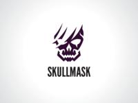 Broken Skull Mask Logo Template