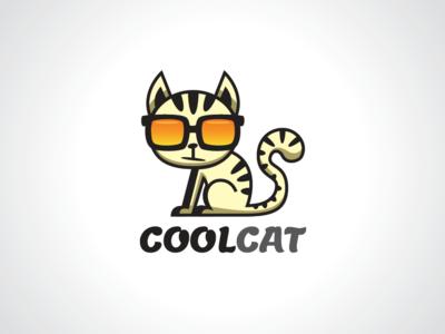 Cool Cat Logo Template
