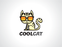 Cool Cat Logo Template