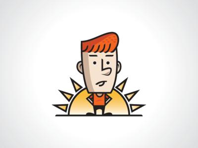 Sun Boy Logo Template