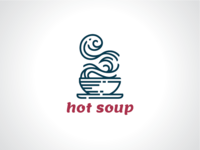 Dotted Hot Soup Logo Template