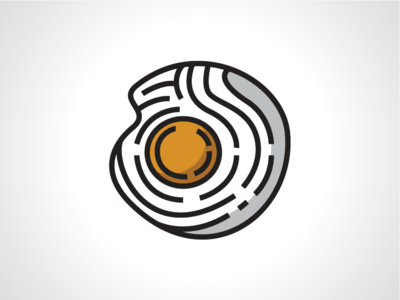 Wood Egg Logo Template