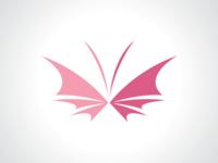 Butterfly Bat Bra Logo Template