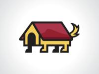 Portable Dog House Logo Template
