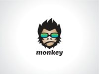 Modern Monkey Logo Template