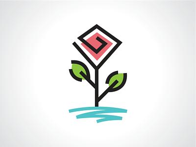 Water Rose Flower Logo Template design template logo leaf branch flower nature plant lake ocean rose water