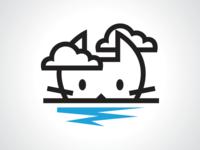 Cat Island Land Logo Design