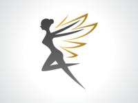 Golden Wing Fairy Logo Design