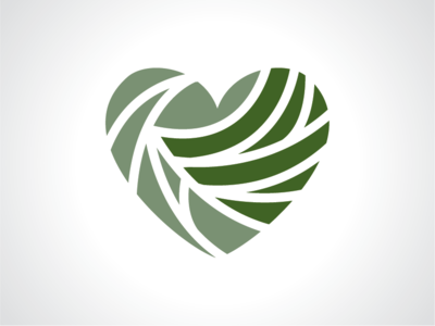 Heart Of Leaf Logo Template