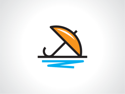 Orange Umbrella Logo Template umbrella logo