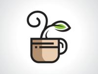 Natural Drink Logo Template