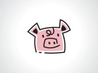 Doodle Pig Logo Template