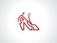 Red High Heels Logo Template