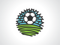 Rounded Soccer Field Logo Template