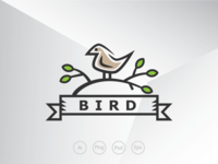 Little Sparrow Bird Logo Template