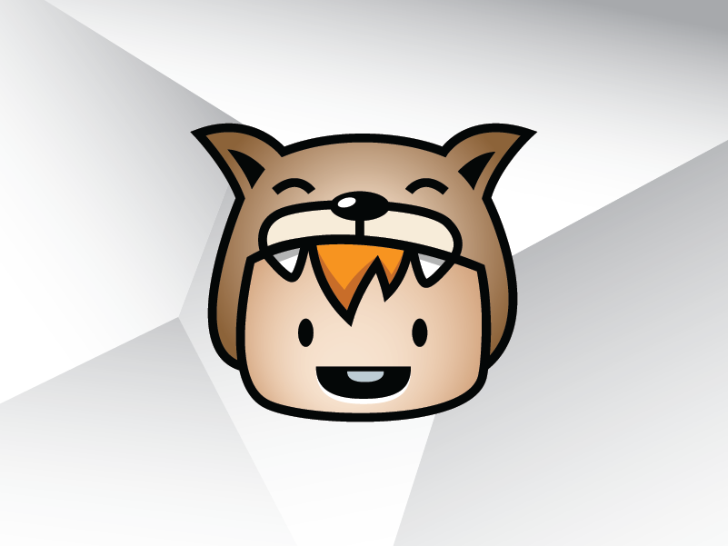 Dog Mascot Baby Logo Template cute person people head illustration vector template design logo child boy children kid baby mascot dog