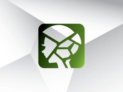 Broken Glass Android Girl Logo