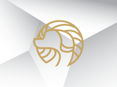 golden dog logo template