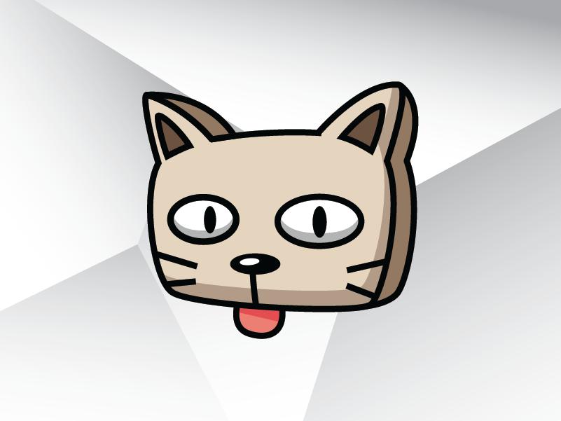 Square Cat Box Logo Template square brochure animal illustrator vector template design logo veterinary pet box cat square