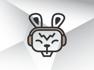 Dj Bunny Logo Template