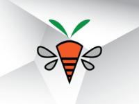 Carrot Bee Logo Template