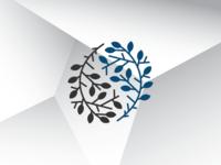 Ying Yang Leaf Logo