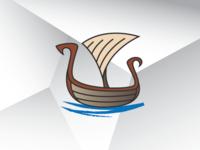 Viking Ship Explorer Logo Template