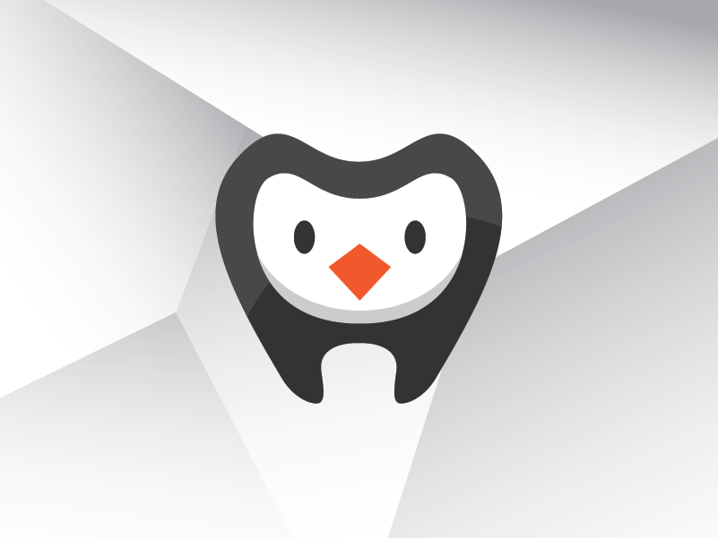 Owl penguin dental dentist tooth teeth kid children logo template design 04
