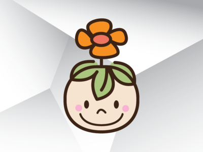 Baby Flower Head Logo