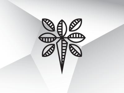 Leaf Knife Logo Template