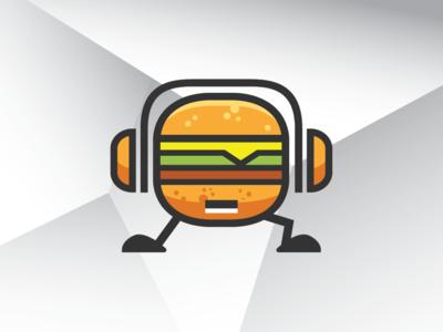 Dj Burger Logo Template