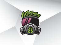 Leaf Hazmat Mask Logo Template