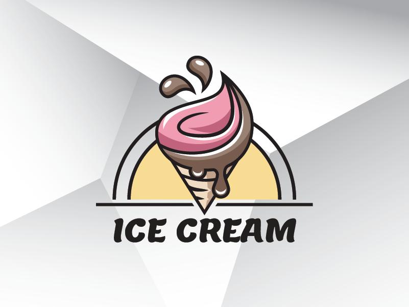 Summer Ice Cream Logo Template food cream ice ice cream summer