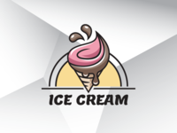 Summer Ice Cream Logo Template