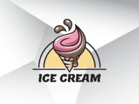 Summer Ice Cream Logo Template