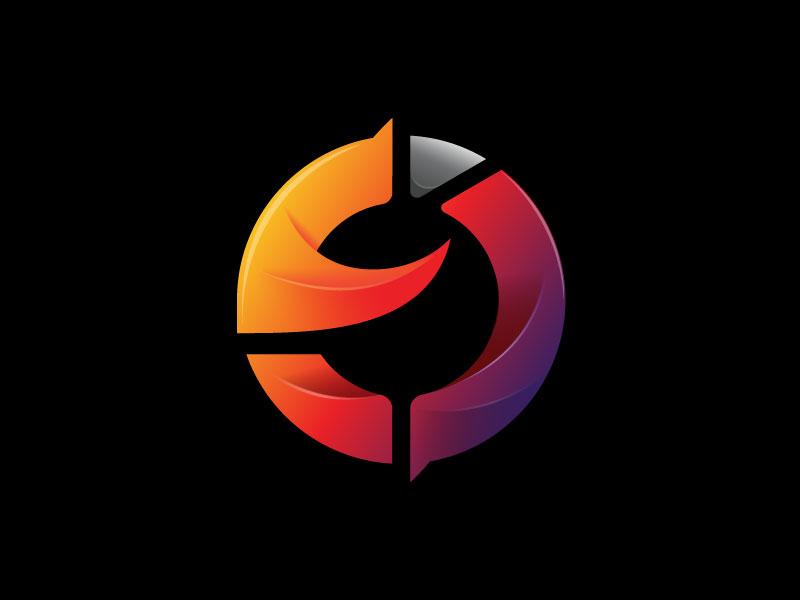 Letter O, E & D Logo Template design template gradation e d o colorful alphabet rainbow letter logo