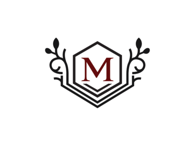Letter M Crest Logo Template