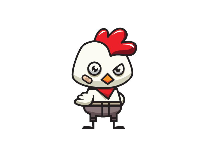 Chicken Kid Pants Logo kids illustration 2d cartoon template design logo farm pants chicken boy kid