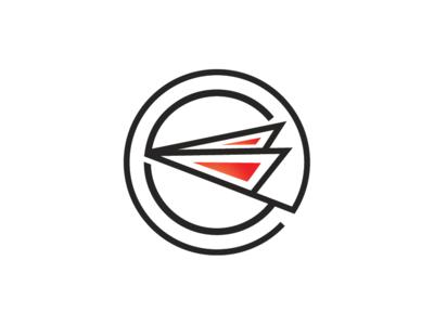 Paper Aircraft Logo Template
