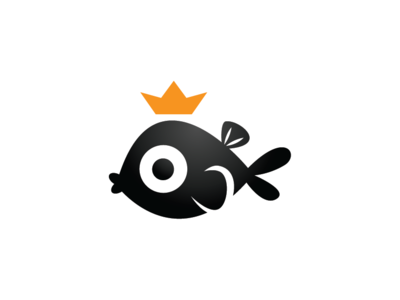 Black Fish King Logo Template