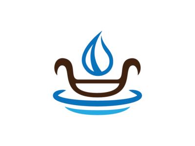Water Boat Logo Template