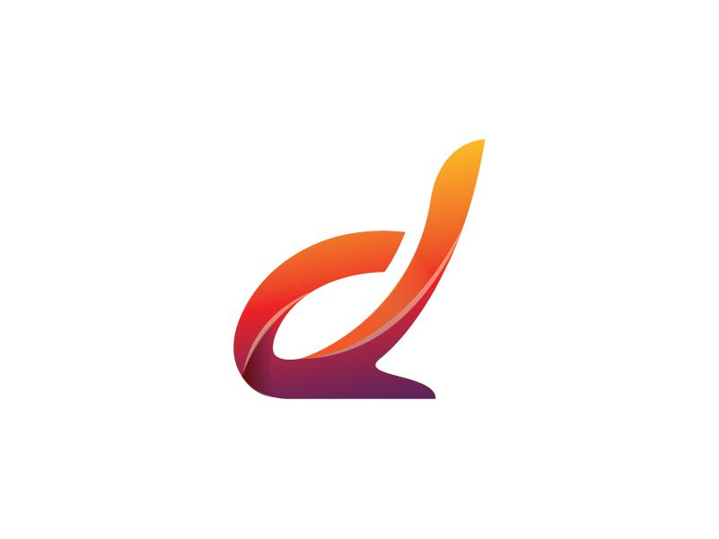 Digital Gradient Letter Logo Design Template font logo typography logo letter logo lettering logo colorful logo gradient logo digital