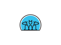 Dog networking logo template