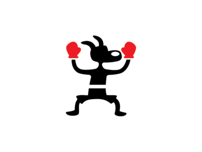 Boxing Dog Logo Template