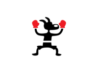 Boxing Dog Logo Template