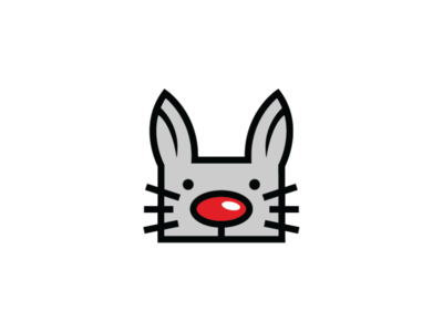 cat clown pet veterinary logo