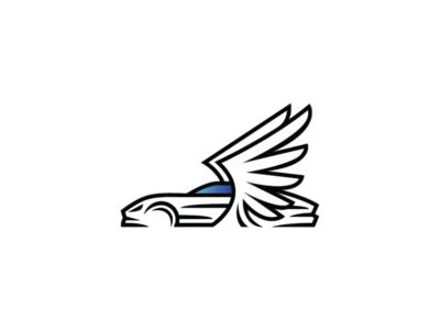 Winged Sport Car Logo