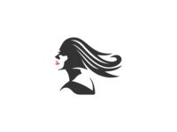 woman with long hair logo